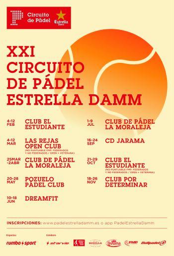 Cartel XXI Circuito de Pádel Estrella Damm