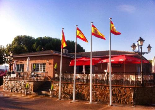 banderas terraza